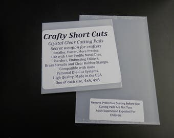 Clear Cutting Pads  4x4 and 4x6 Crafty Short Cuts For Low Profile Diecutting Smaller More Precise