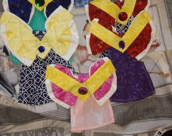 Sailor Moon inspired hair bows 6-pack pack