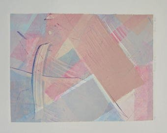 """Richard Hall Signed Art Print """"Access #12"""" - Phoenix Art Press Hand Signed in Pencil Limited Edition Geometric Abstract Art"""