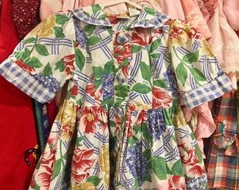 1990s Floral Dress 3/4T