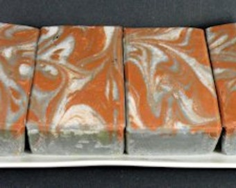 BLACK PEPPER BERGAMOT Cold Process Soap with Olive Oil and Shea Butter - Vegan ((Clearance))