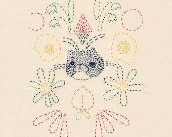 Sashiko Gocco Print
