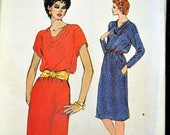 ON SALE Vintage Sewing Pattern Vogue 8225 Misses' Dresses Size 12-14-16 Bust 34-38 inches Complete