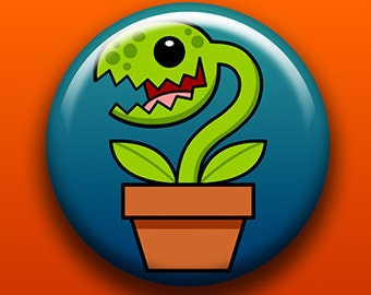 Venus Flytrap - Button / Magnet / Bottle Opener / Pocket Mirror / Keychain  - Sick On Sin