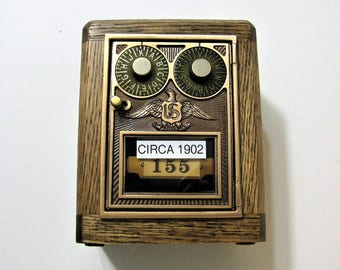 Post Office Box 1902 Dual Dial Door Bank Safe Antique Door