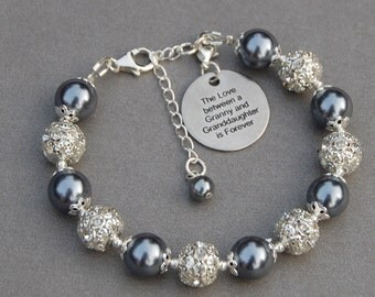 Granny Granddaughter Gift, Granddaughter Jewelry, Granny Gift, Granddaughter Bracelet, Gift for Grandma, Granny Jewelry