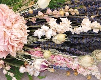 Custom Lavender and Dried Flower Archway Chair Pew Altar Arbor Chuppah Corner Sign Fence Arrangement for Natural, Boho Weddings Decor