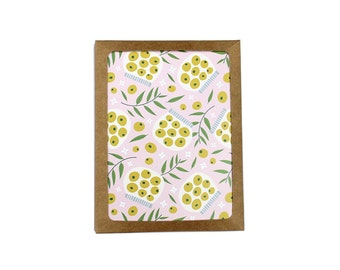 Set of 10 Olive Print Notecard illustration floral foodie pattern