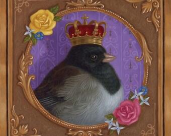 Bird Birdy Fairy Tale Fantasy Cute Animal Art Print Nature