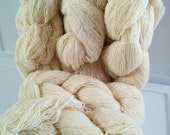 5 skeins natural wool yarn