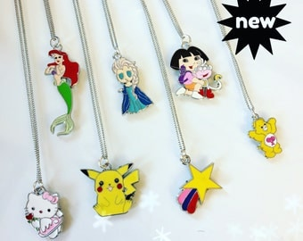 Enamel petit necklaces (choose the design)