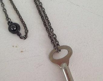 SALE Vintage Jewelry Skeleton Key Necklace Recycled Upcycled Jewelry Steampunk.