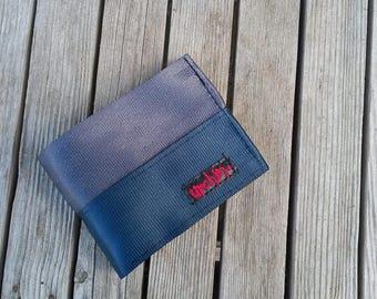 Seatbelt Wallet with change pocket - Mens BiFold Wallet