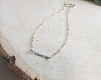 Drilled Bar Two Tone Elegant Bracelet