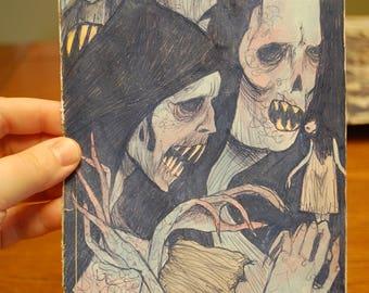 The Ghouls Original Drawing