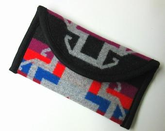 Wallet Clutch Bag Southwest Print Wool from Pendleton Woolen Mills Magnetic Snap Closure