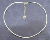 Adjustable Length - White Satin Cord Necklace With Silver Plated Clasp - Choice of Charm Style