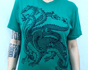 Hydra T-shirt Nine Headed Green Snake Hercules Twelve Labors Greek Mythology Ulysses S M L XL 2X