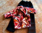 ON SALE Ken Clothes Red Paisley Shirt with Black Pants