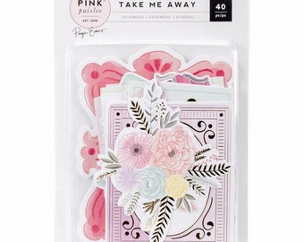 Take Me Away Ephemera Die-Cuts 40/Pkg Pink Paislee (310435)