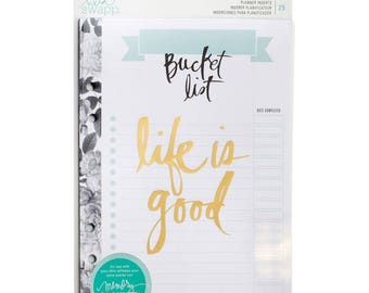 Bucket List 25/Pkg Heidi Swapp Large Memory Planner Inserts (313362)