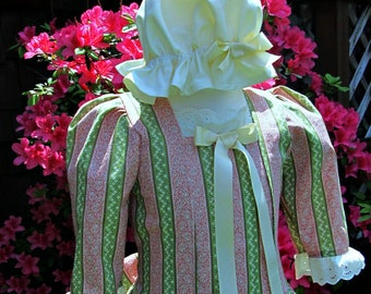 Girls size 4/6 Colonial Williamsburg Dress ONLY ..Hat NOT  included (Please read full details with measurements inside of ad)