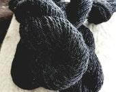 4 skeins for C Shoemaker Black Shetland Romney Lamb's Wool Direct from the Farm Yarn Ready to knit, crochet