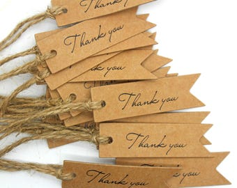 Hang Tag, Thank You Hang Tag, Wedding Favor Tag, Price Tag, Small Hang Tag, Party Favor Tag, Scrapbooking, Gift Tag, Kraft Hang Tag