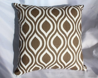 Brown Pillow Cover, Nicole Brown, Linen Pillow, Sofa Pilliow Cover