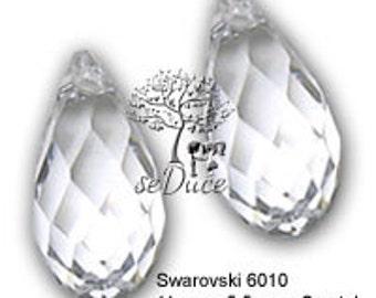 6 pcs Swarovski 6010 11mm Tear Drop Briolette