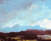 ACEO 1627, 0il painting original landscape, ACEO, miniature art, 100% charity donation, oil painting on cardboard