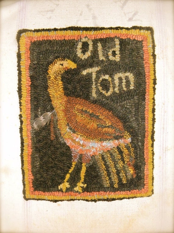 Old Tom rug hooking pattern - PDF - from Notforgotten Farm™