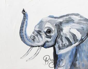 Eager the Elephant, Elephant Art, Elephant Painting, Elephant Portrait