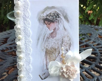 Handmade Altered Wedding Journal