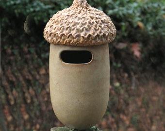 Bird House--Acorn shaped Ceramic Stoneware for House Wrens