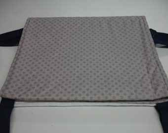 Gray Tone on Tone Dots Rail Teething Guard For Standard Size Crib On Sale