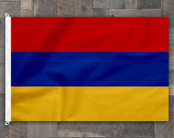 100% Cotton, Stitched Design, Flag of Armenia, Made in USA