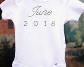 A Modern Pregnancy Announcement Baby Announcement Pregnancy Reveal to Grandparents Custom Embroidered Baby Reveal