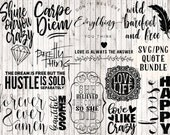 svg bundle, quote svg, svg sayings, quote prints, printables, vinyl decal designs, vinyl svg files, vector art, coffee mug svg, wall quotes