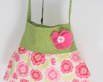 pink and green little girl purse tote handbag Christmas gift