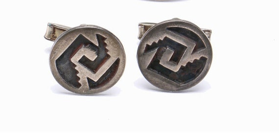 1965 Mexico Sterling Silver Geometric Cufflinks