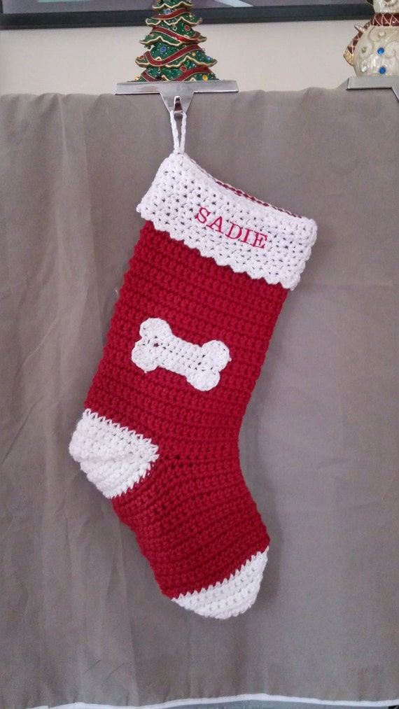 Items similar to sale personalized dog christmas stocking for Personalized dog christmas stocking
