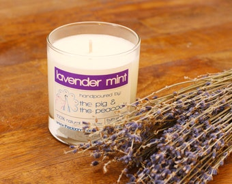 Soy Wax Candle - Lavender Mint Pure Soy Wax Candle - 7.5 oz
