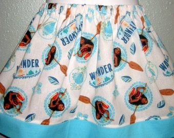 RESERVED     MOANA girls skirt, 6M to size 8