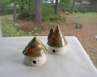 Set Of 2 Small Fairy Houses, Garden Fairy Houses