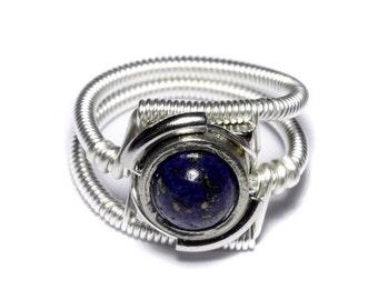 SALE 25% OFF - Cyberpunk Jewelry - Ring -  Lapis Lazuli