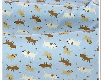 4385 - Dog Cotton Jersey Knit Fabric - 70 Inch (Width) x 1/2 Yard (Length)