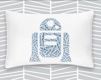 Personalized Pillowcase R2 D2 Star Wars Pillow Room Decor