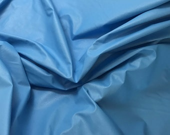 Turquoise Blue Faux LEATHER Fabric  fat 1/4