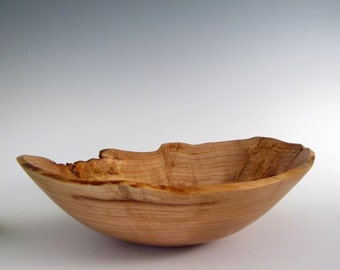 Wood Bowl- Natural Edge Cherry  Burl - Wood Turned Bowl - Christmas Gift - Wooden Bowl - Wood Turned Bowl- Wooden Bowls - Wood Turning Bowl